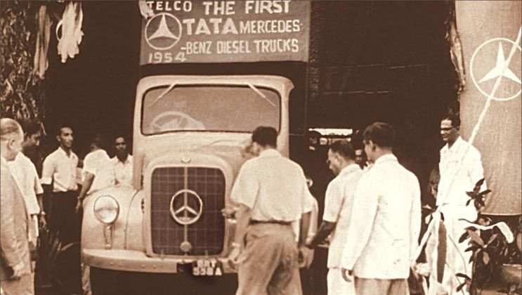 Tata Launched Its First Mercedes Benz Diesel Truck Telco History