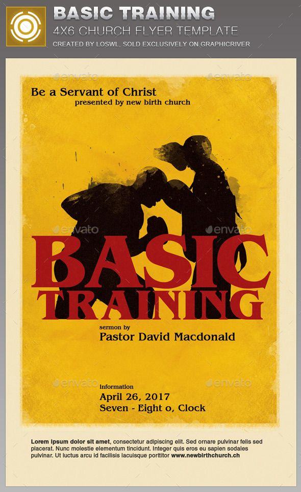 Basic Training Church Flyer Template Flyer Template Churches And