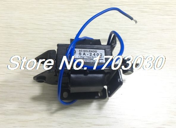 15mm Stroke 1kg Force Ac 110v Pull Type Solenoid Electromagnet