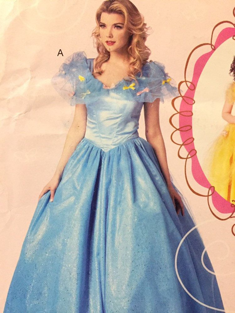 Misses Princess Cinderella Costume Sewing Pattern Mccall S 566 7213 Size S Xl Bust 31 44 Inches Uncut Complete Cinderella Costume Costume Sewing Patterns Mccalls Sewing Patterns