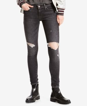b766a83293f Levi's 711 Skinny Jeans | Products | Ripped skinny jeans, Jeans ...