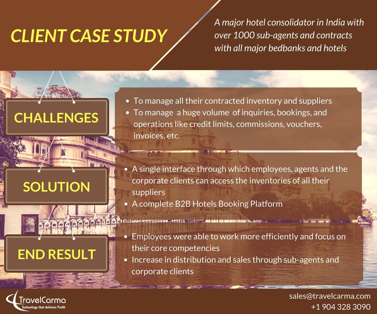 An infographic on how TravelCarma helped a major hotel