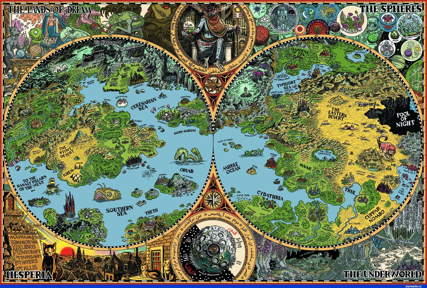 The Lands Of Dream Map of the Dreamlands (Credit- Mockman ... on alexandria map, eclipse map, love map, america map, fiction map,