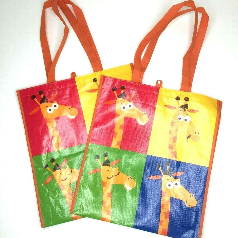 Toys R Us Geoffrey Giraffe Reusable Shopping Tote Bag New