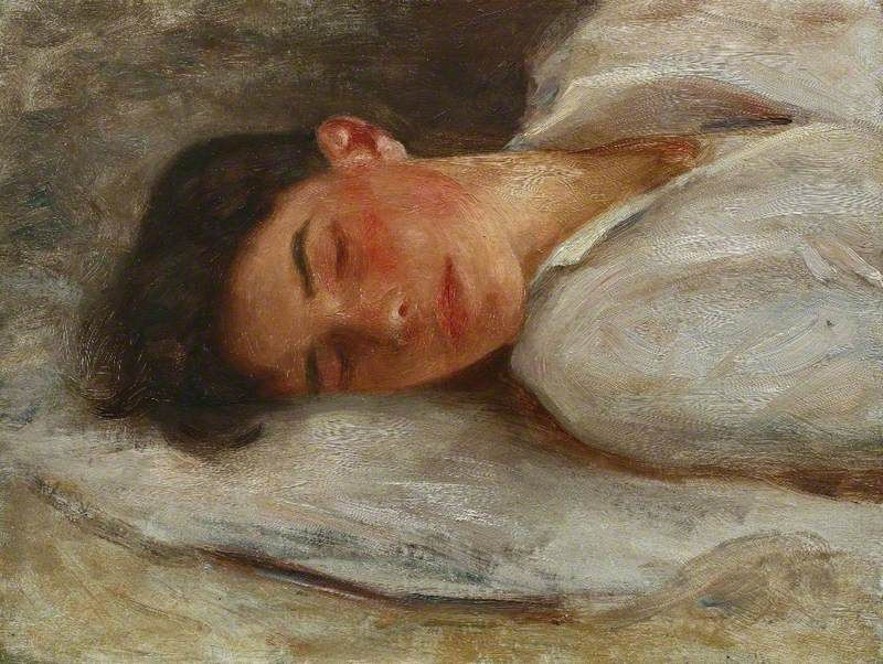 Sketch for 'Summer Dreams'  Henry Scott Tuke (1858–1929) Royal Cornwall Polytechnic Society