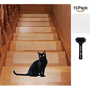 Best 15 Pack 6 X 24 Rubber Clear Adhesive Stair Treads Non 400 x 300