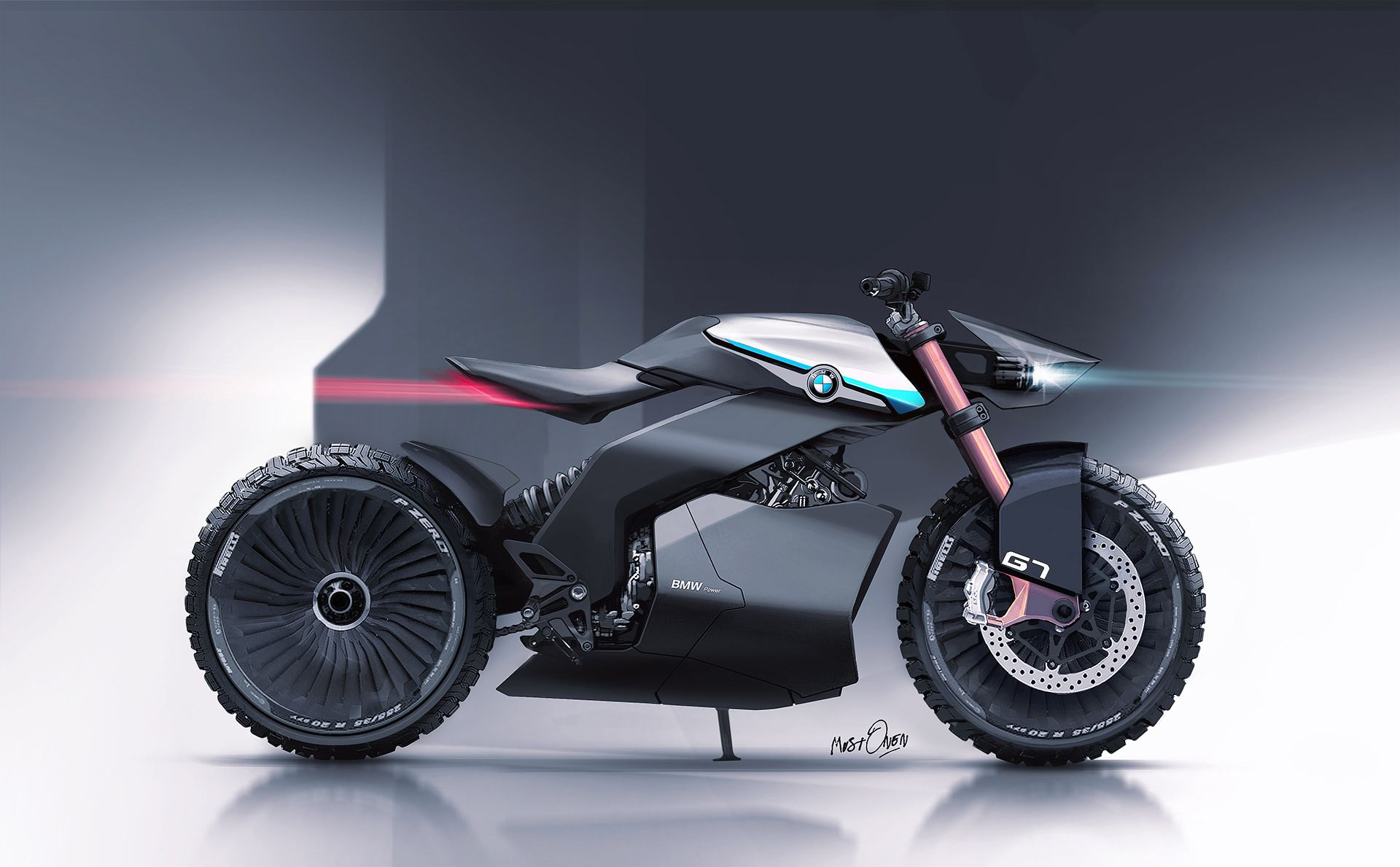 Bmw G7 Scrambler Concept On Behance With Images Futuristic