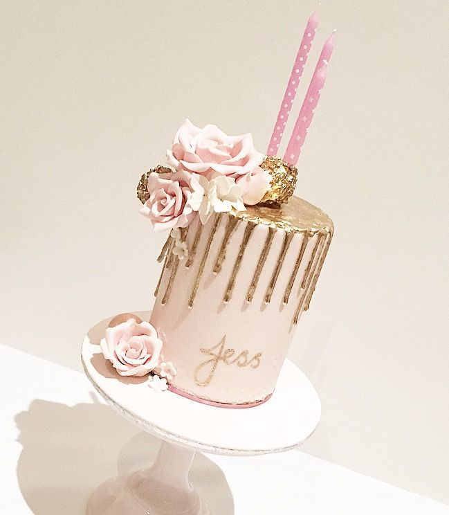 Pink And Gold Drip Cake 21st Birthday Cakes 16 Birthday Cake