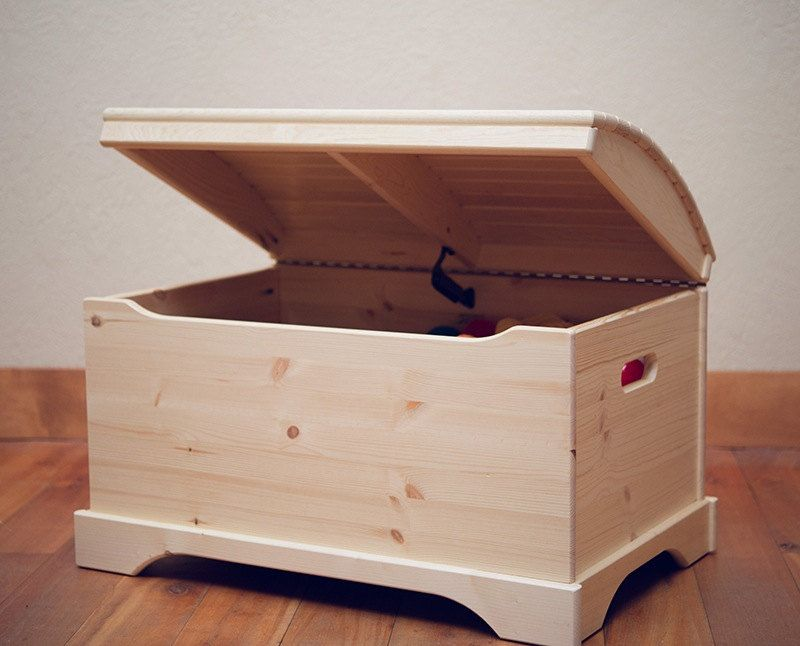 Captain's Chest Toy Box, Unfinished or Finished in 2020