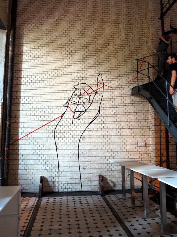 Creating Artistic Design and Drawings with Masking Tape