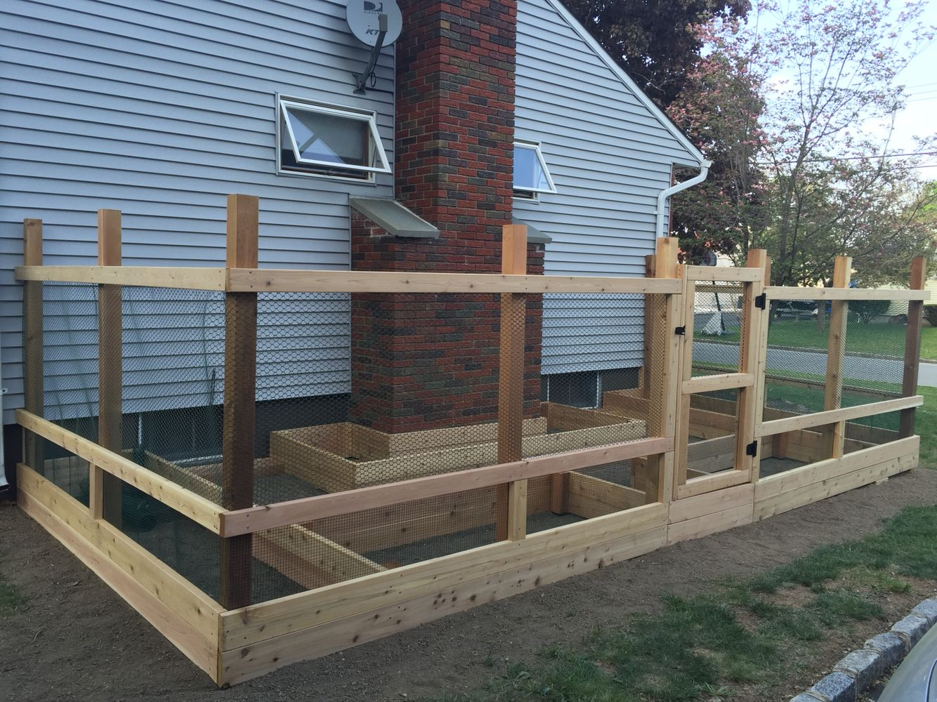 Raised Garden Beds With Free Standing Fence Posts No Digging No
