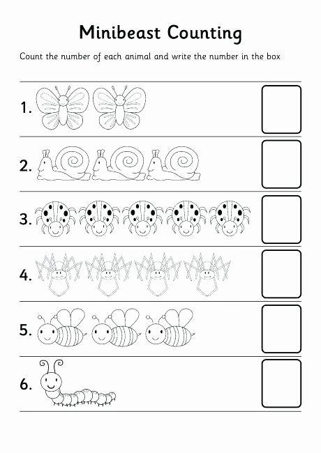Bug Worksheets for Preschool Counting Numbers Worksheets ...