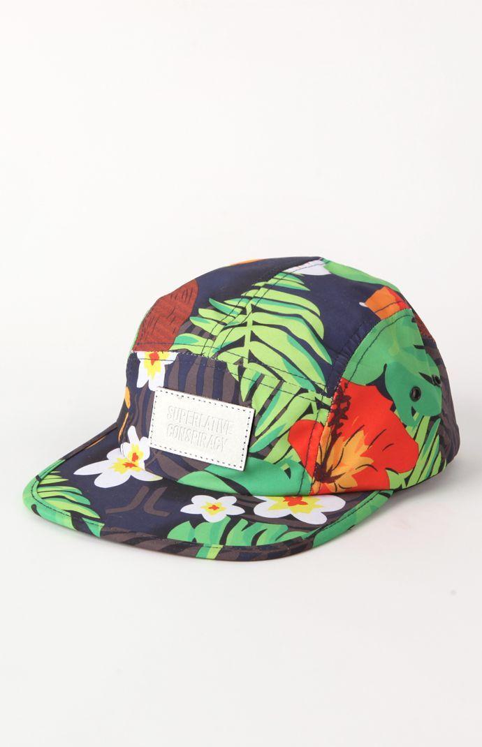 e8a9263240e WeSC Tropical 5 Panel Hat  WeSC  PacSun