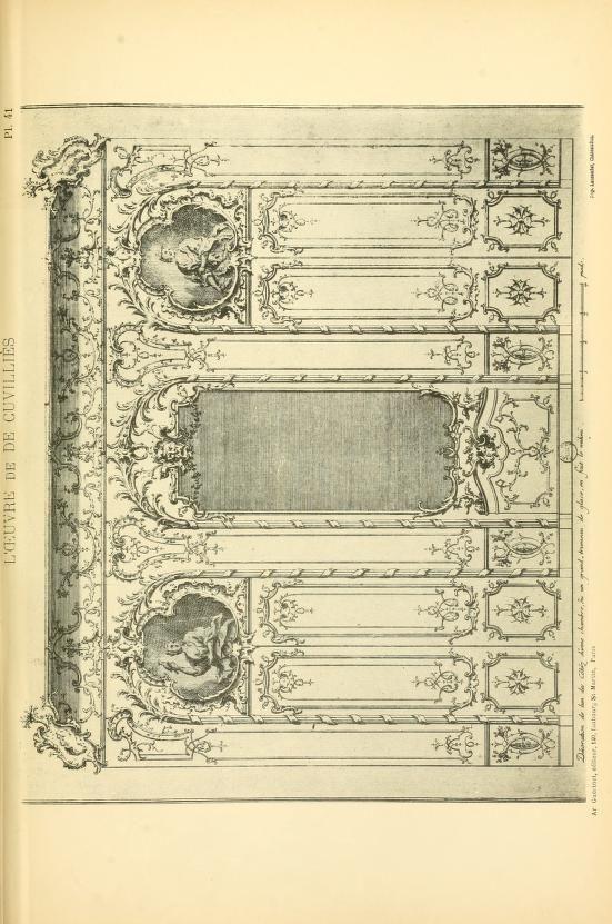 more@ - 1900 - L'uvre de De Cuvilliès : époque Louis XV : nouveau livre de plafonds -  by Cuvilliés, François