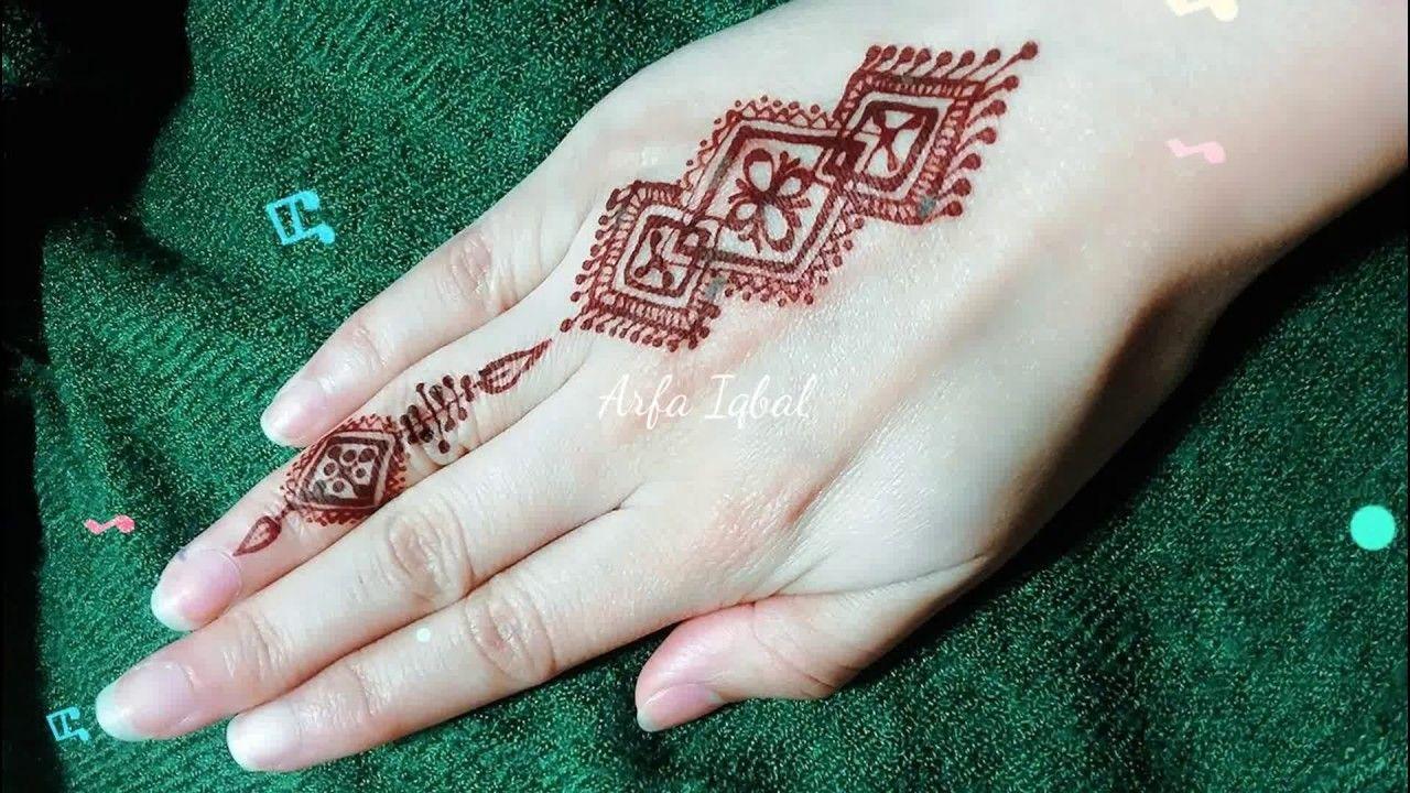 Mehndi For Thumb : Diy easy mehendi design for fingers tutorial henna temporary