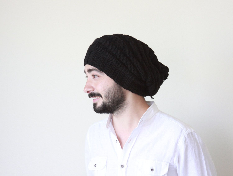 1e939011580 Slouchy beanie men  slouch  crochet  beanie  bonnet  winter  for  women   teens  unique  handmade  outfit  fashion  mens  style  etsy  slouchy   black  boho   ...
