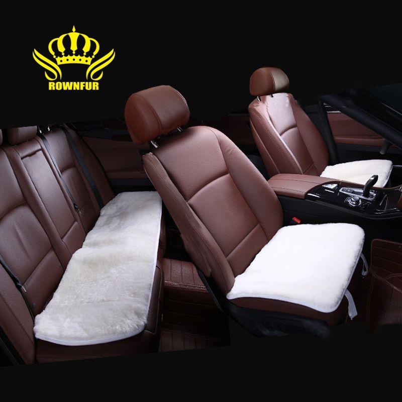 Wondrous Square Car Seat Cover Universal Fake Fur On The Seat Is Very Inzonedesignstudio Interior Chair Design Inzonedesignstudiocom