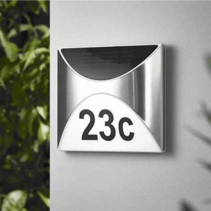 Solar huisnummerverlichting Tau inclusief cijfers - SolarlampKoning ...