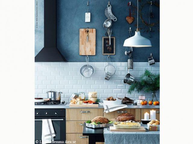 Cuisine bleue découvrez toutes nos inspirations elle décoration