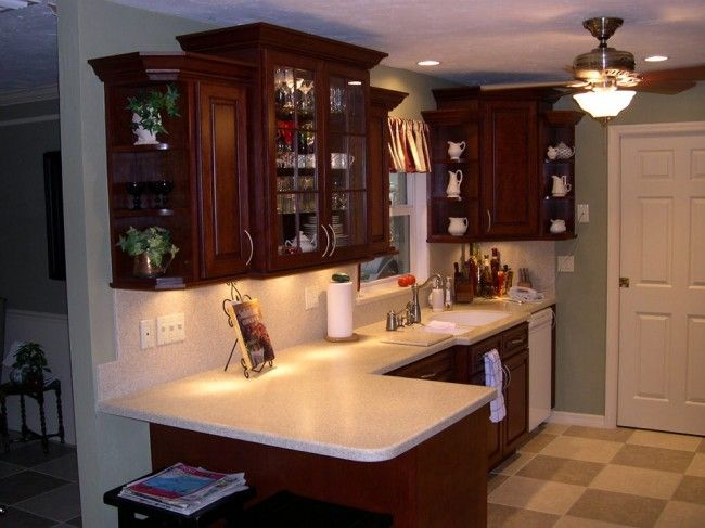 Custom Made Cherry Kitchen With Corian® Sahara Tops « Beverin Solid  Surface, Inc.