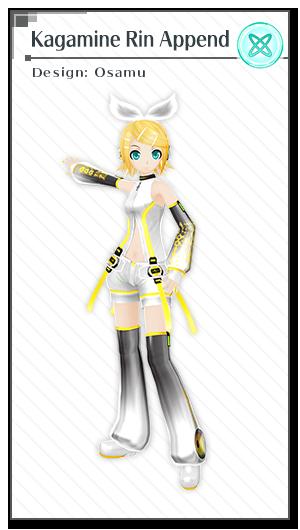Kagamine rin append design osamu module vocaloid - Kagamine rin project diva ...