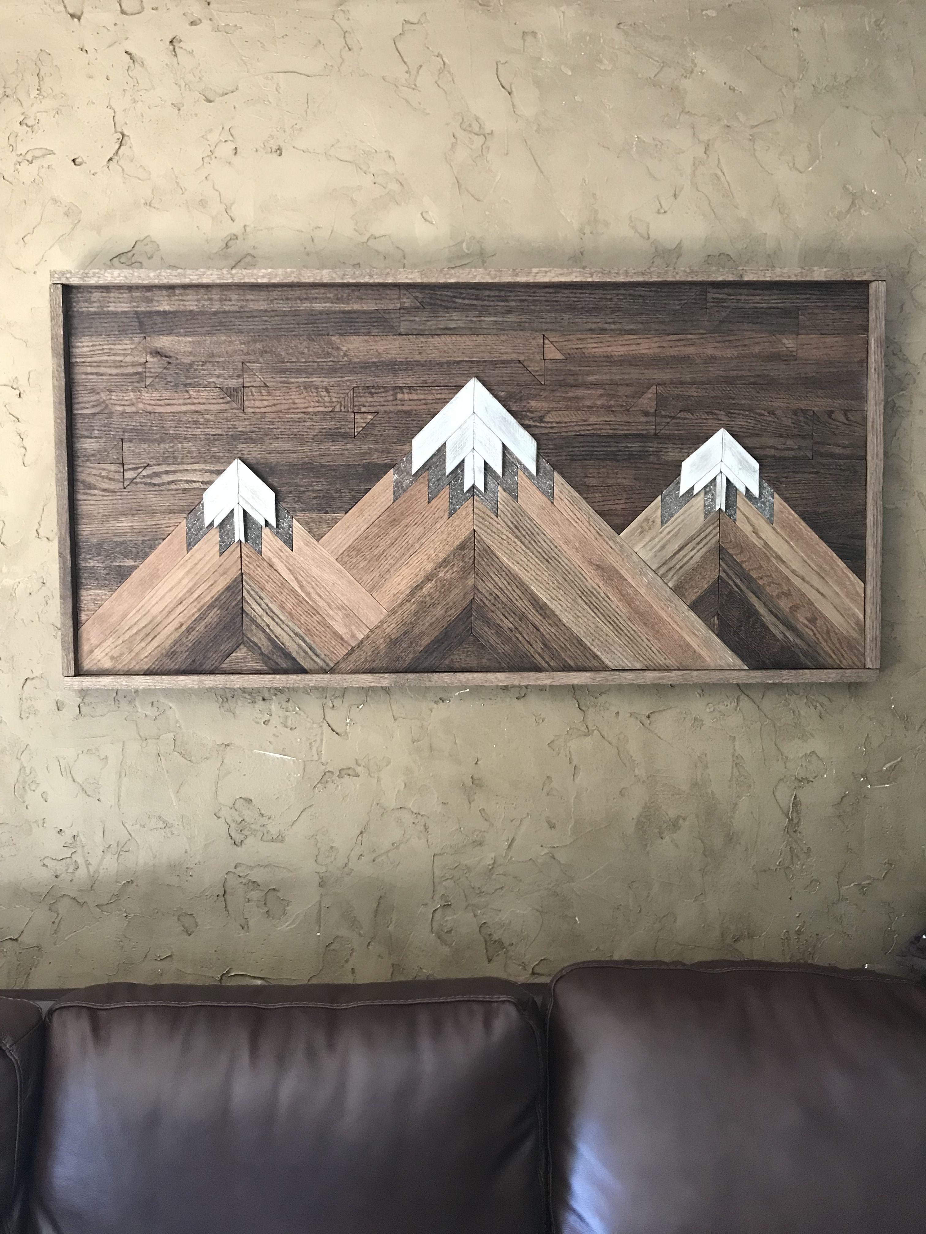 Diy mountain wood art mountain wood art wood art