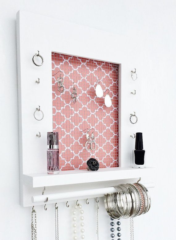Wall Hanging Jewelry Organizer FREE SHIPPING white by DivaDisplay