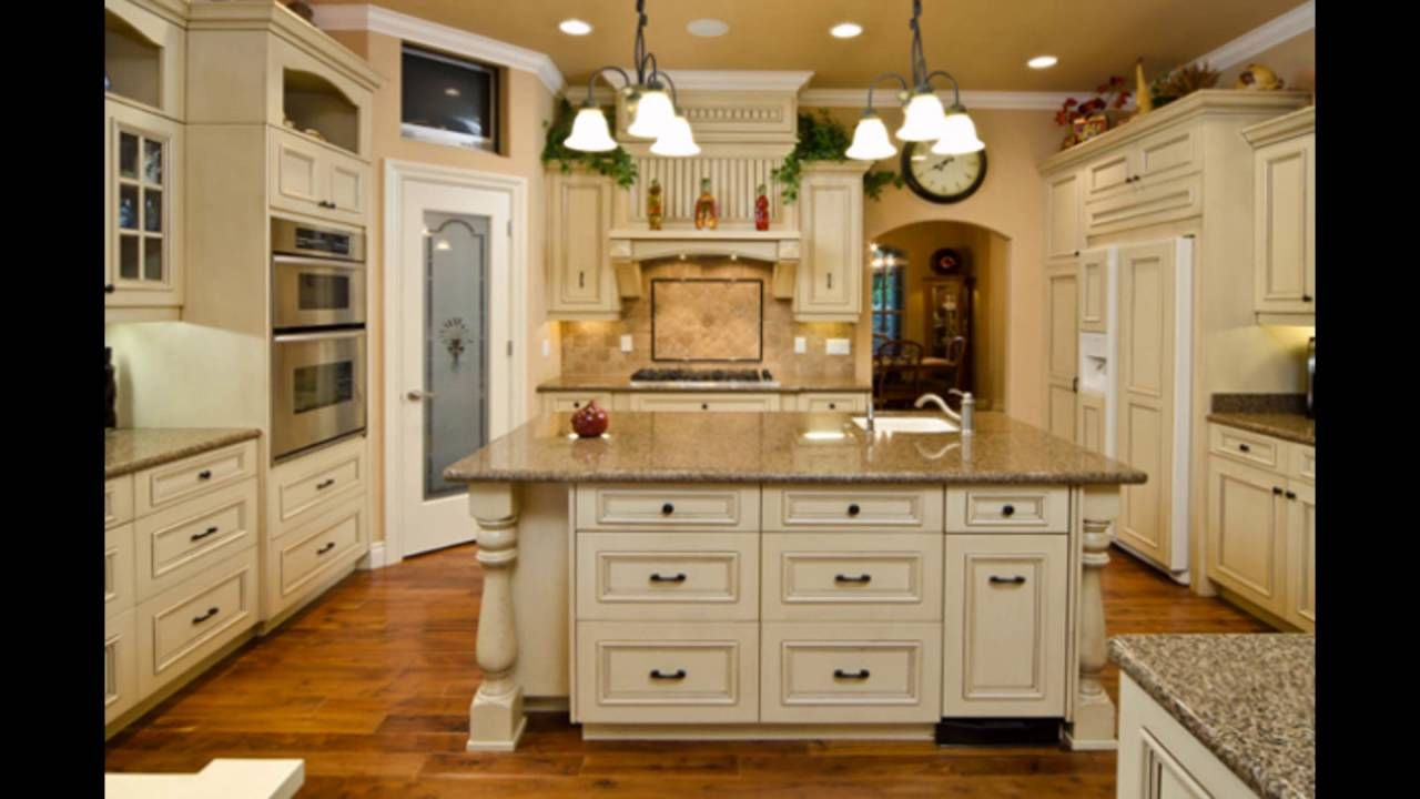 antique cream colored kitchen cabinets | Kitchen Ideas | Pinterest ...