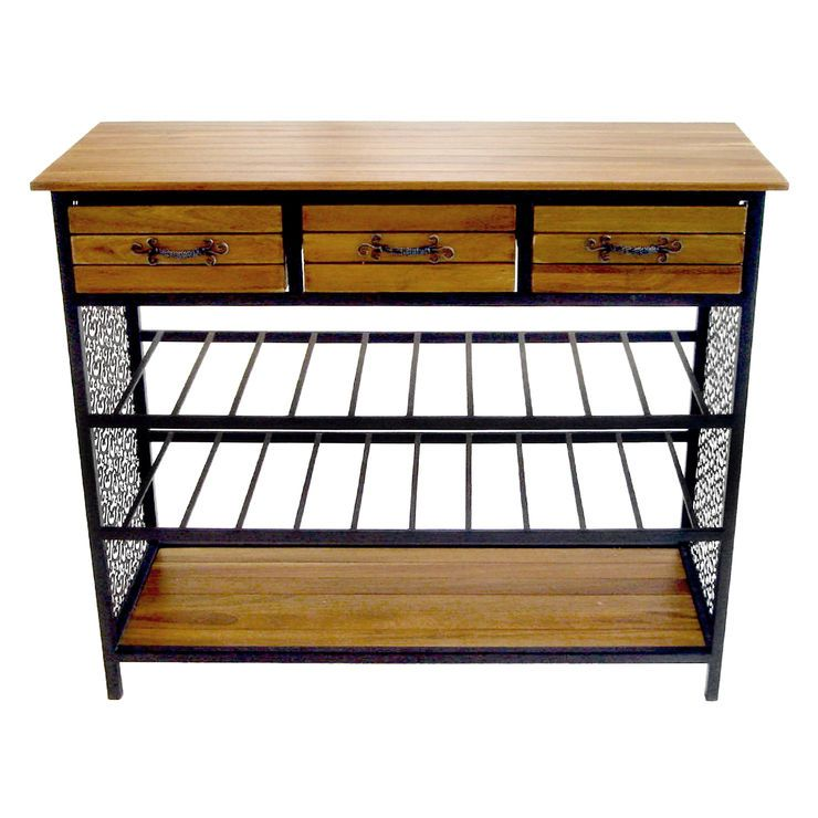 Drawer Shelf Wood Metal Table Big Ideas For Small Places - Metal table with shelves