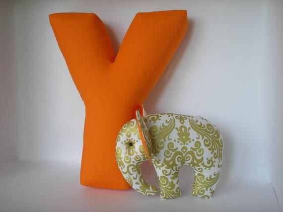 Letter Y - Custom throw pillow - Accent pillow - Personalized nursery decor - Stuffed letters - Shelf Decor - Baby name - Soft letter