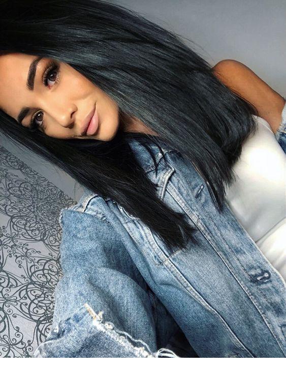 Brunette Love The Look Frisuren Fur Schwarze Haare Haarschnitt Haar Styling