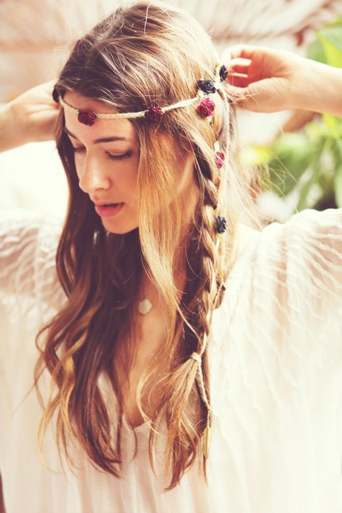 19++ Coiffure mariage hippie des idees