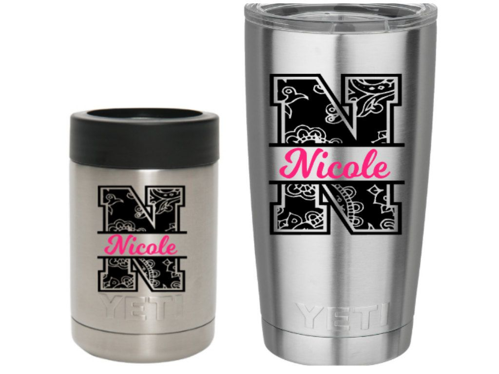 Monogram For Yeti Cup Size Google Search Monogramming - Custom stickers for yeti cups