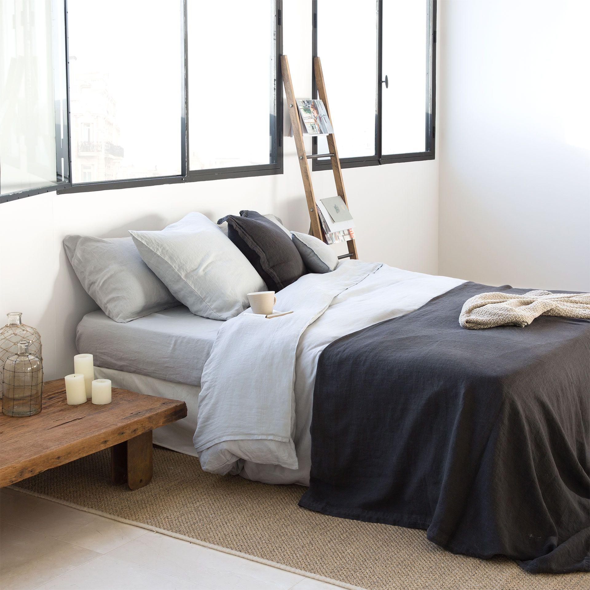 Grey Linen Bedlinen Set Bed Linen Bedroom Zara Home