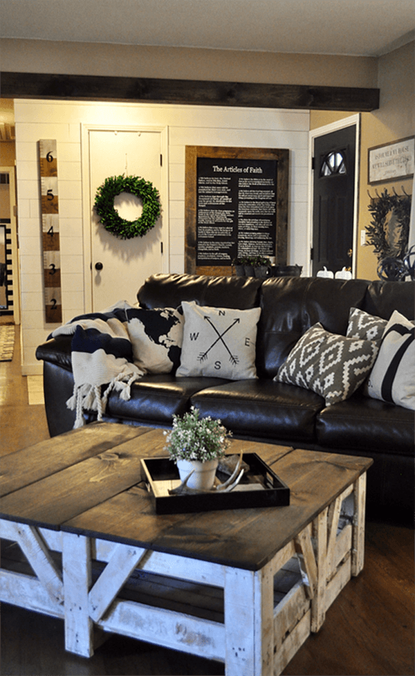 15 Best Diy Farmhouse Coffee Table Ideas Rustic Living Room Design Farm House Living Room Rustic Living Room