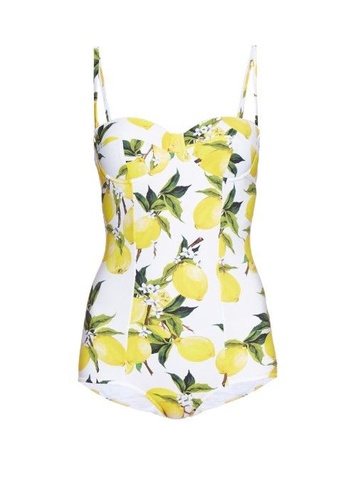1bbdcb7a3d Dolce & Gabbana Lemon-print balconette swimsuit | Back to the Beach ...