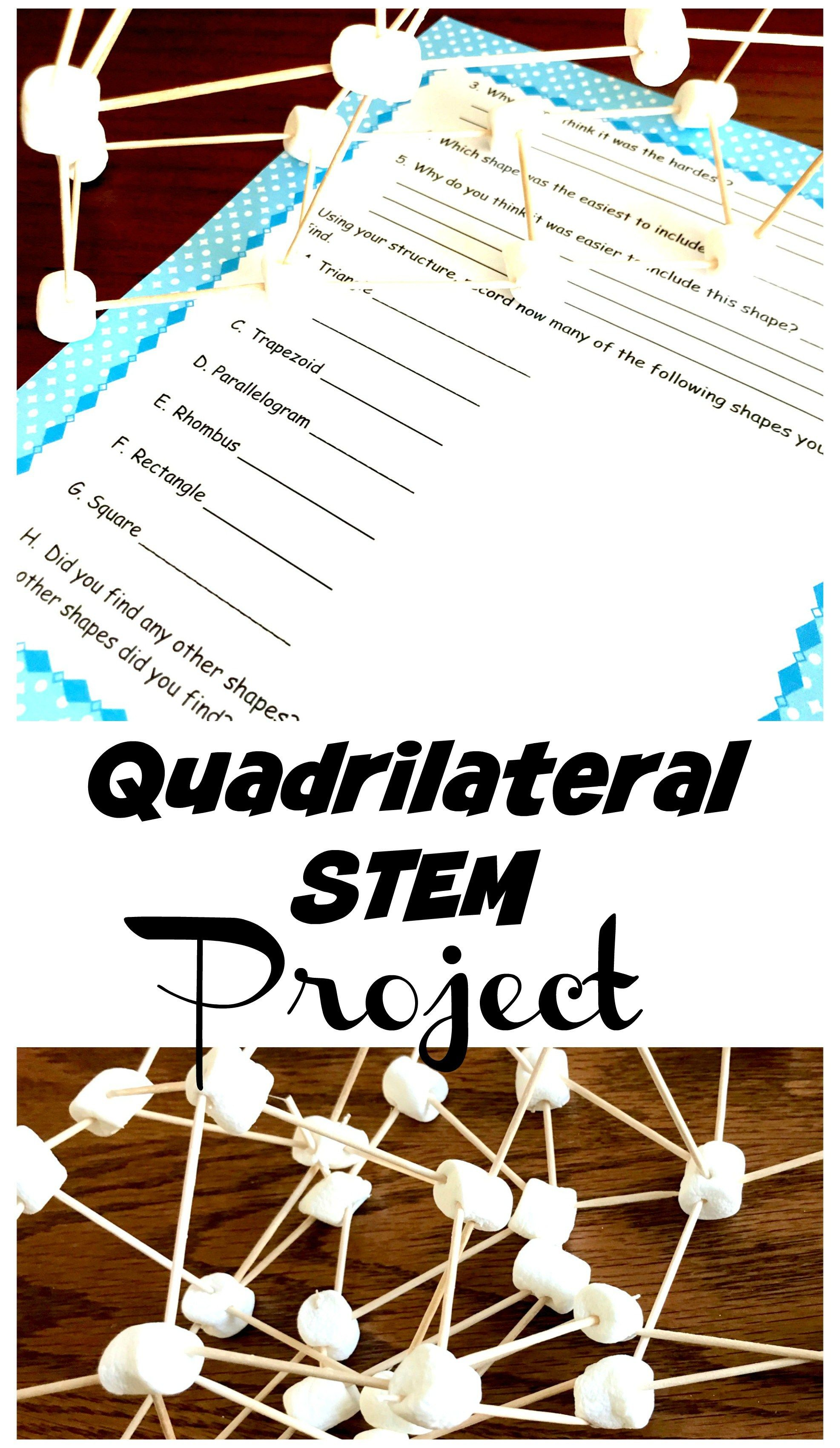 Have Fun Learning About Shapes With This Fun Quadrilateral Stem Project