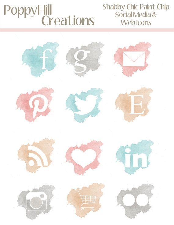 Instant Download Shabby Chic Paint Chip Social Media And