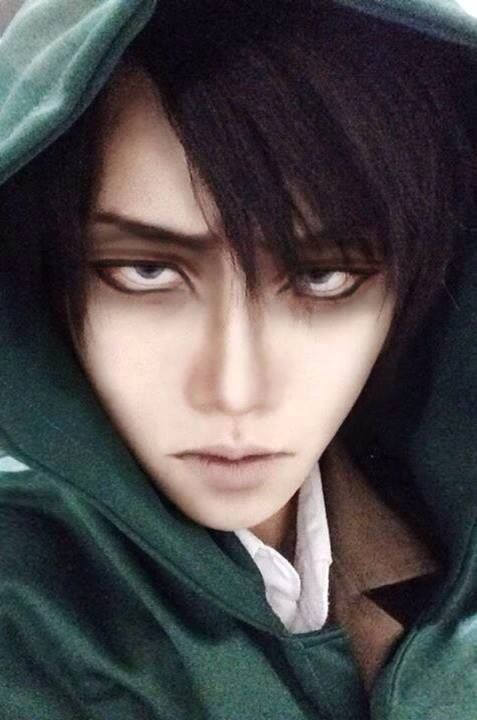 Amazed my Levi cosplay make up, easy to follow