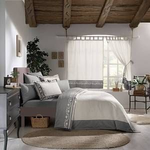 Arroyo Natural Tab Top Room Darkening Curtain August Grove Curtain Colour: Natural Beige/Grey, Panel Size: 167 W x 183 D cm  -