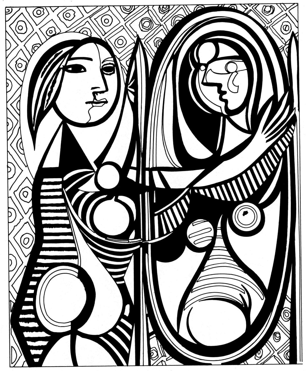 """Pablo Picasso painting """"Girl in the mirror""""   Art Therapy ..."""