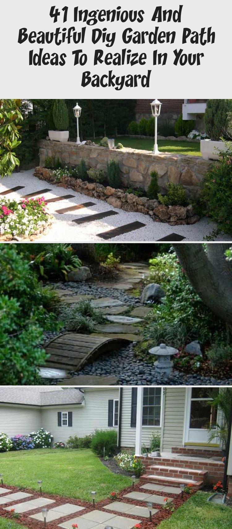 Photo of 41 Ingenious And Beautiful Diy Garden Path Ideas To Realize In Your Backyard – Backyard İdeas