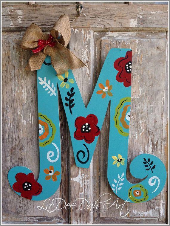 16 Monograms Ideas Monogram Door Decor Door Decorations Hand Painted Monogram