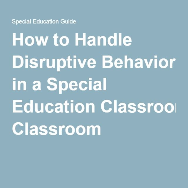 how to handle a disruptive student in the classroom