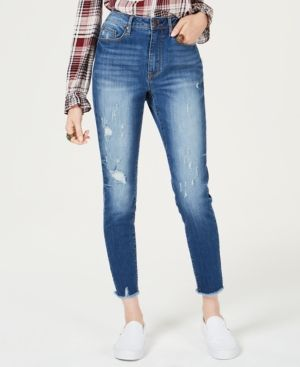 8ecdceb08da American Rag Juniors' Ripped High-Waisted Ankle-Length Skinny Jeans,  Created for Macy's - Blue 11