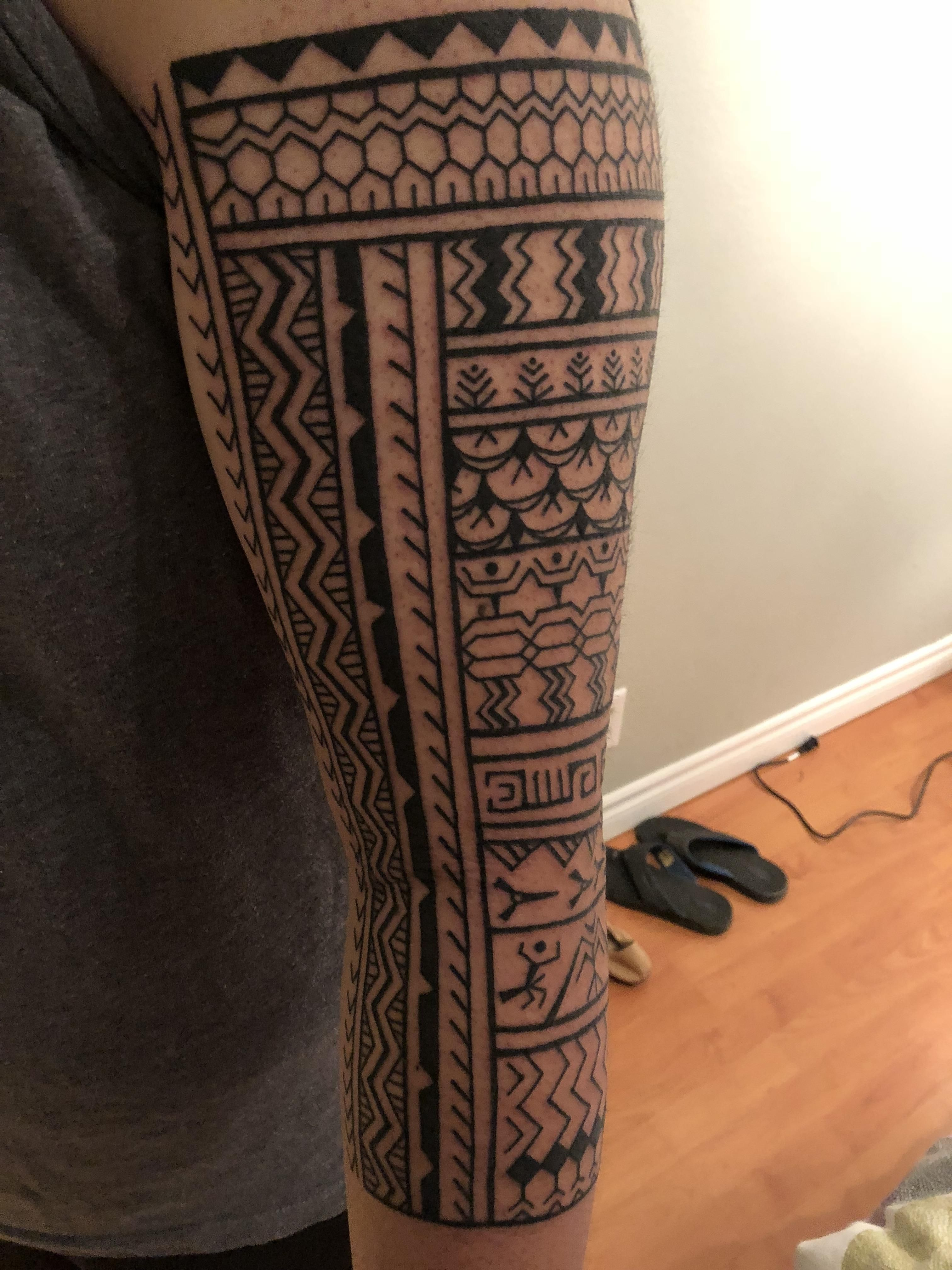 My first piece a Northern Filipino Tribal by Zel at