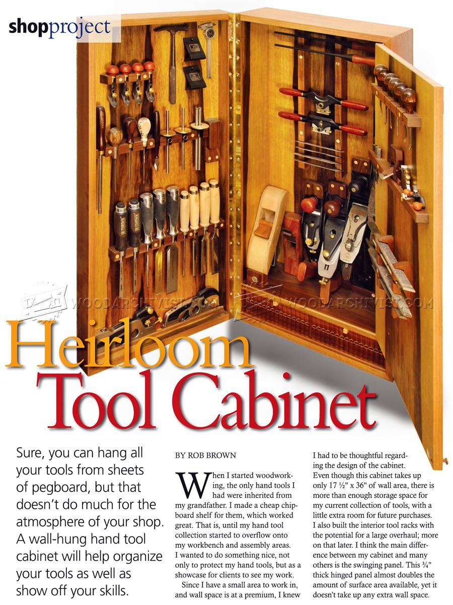 Wall Tool Cabinet Plans Workshop Solutions Tool Cabinet