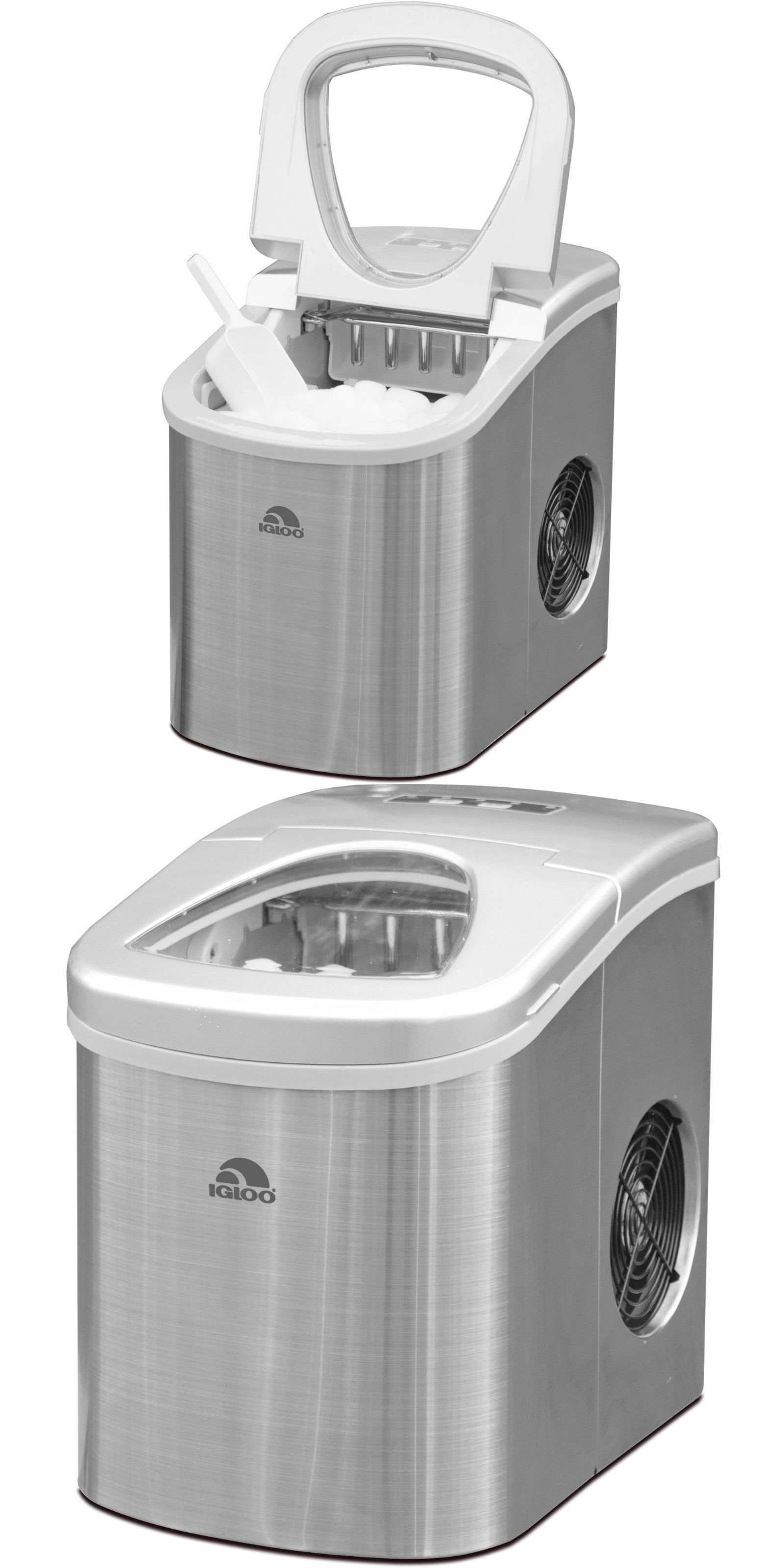 Countertop Ice Makers 122929 Compact Ice Maker Stainless Steel Makes 26lbs In 24 Hrs Ice Size Settings Buy It Now Only 114 2 Ice Maker Stainless Steel
