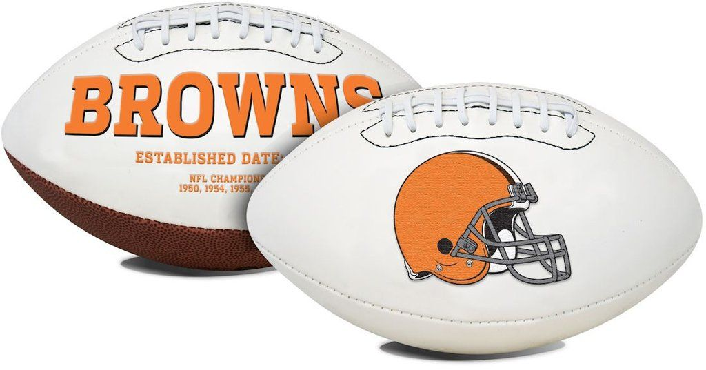 Cleveland browns football full size embroidered signature