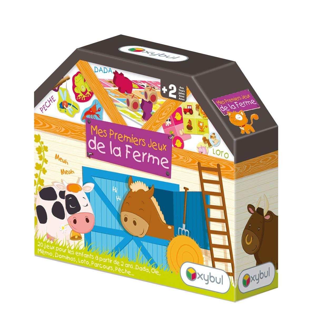 coffret premiers jeux de la ferme oxybul pour enfant de 2 ans 6 ans oxybul veil et jeux. Black Bedroom Furniture Sets. Home Design Ideas